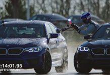 BMW'nin yakıt ikmali ile drift rekoru kırması