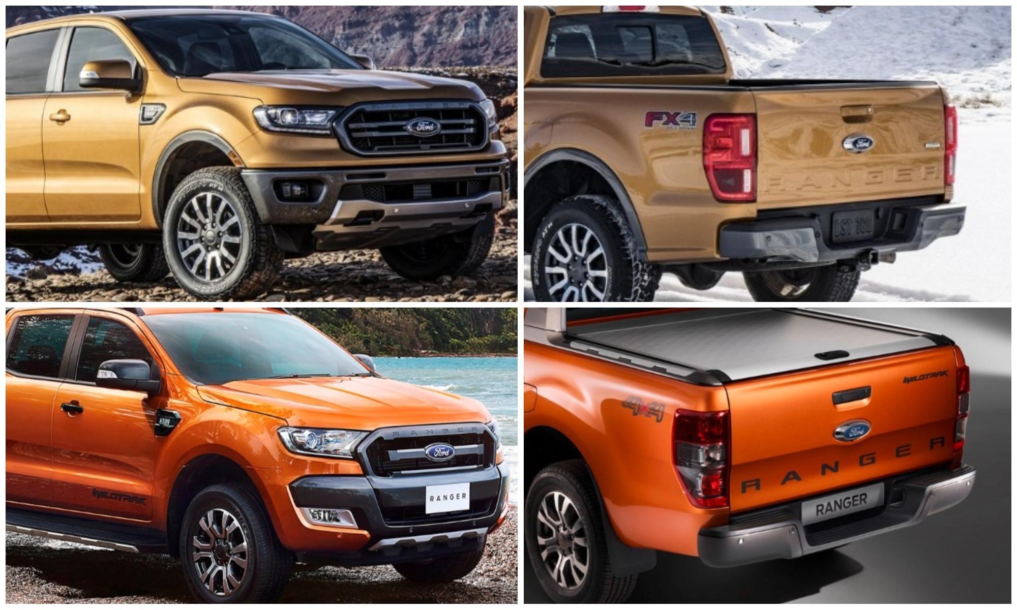 Ford Ranger ön - arka görünüm karşılaştırması