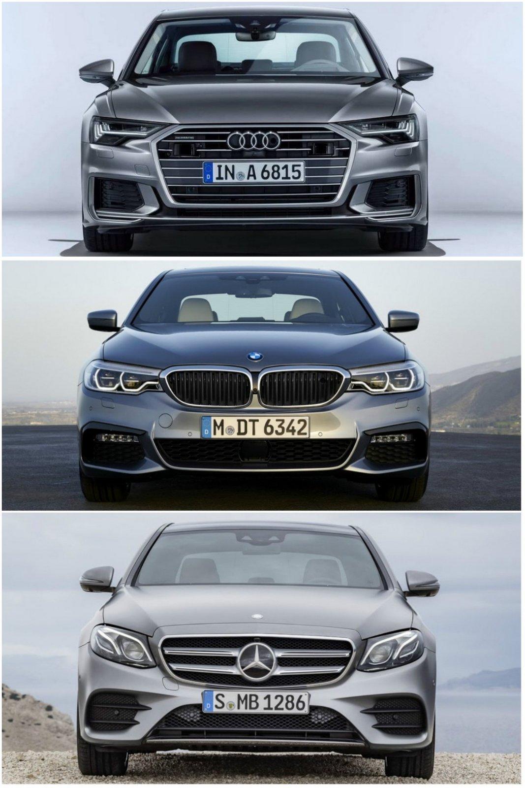 Yeni Audi A6- BMW 5 Serisi- Mercedes E Serisi Ön Görünüm