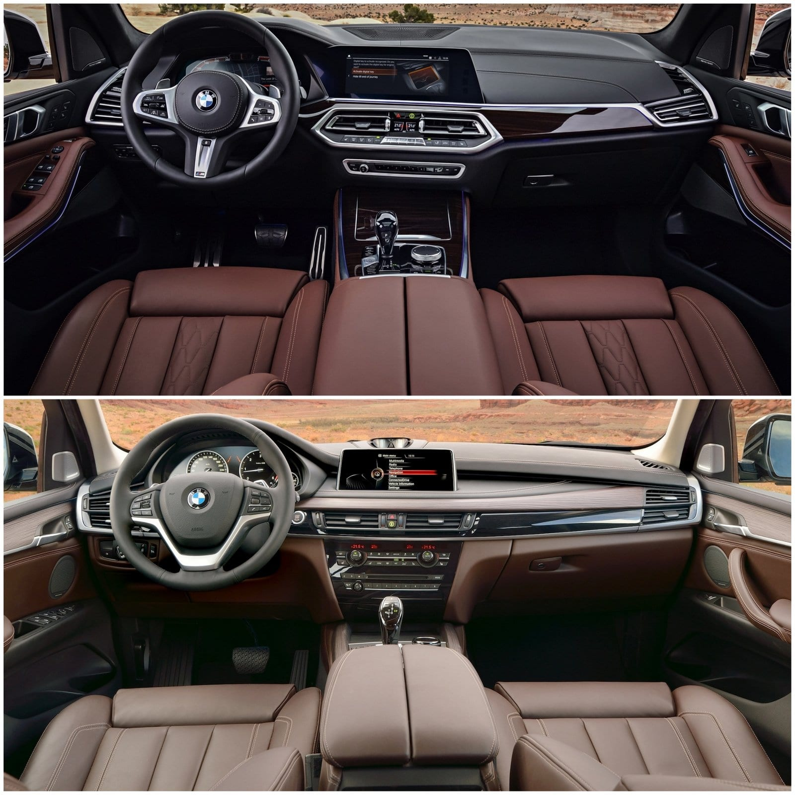 yeni bmw x5 kokpit dashboard