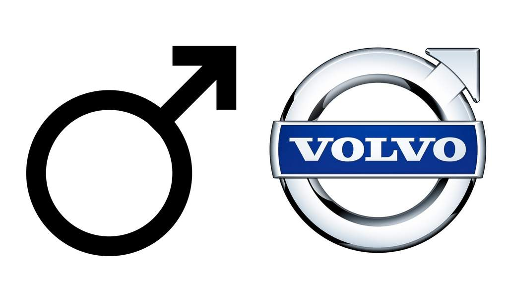 volvo amblemi erkek cinsiyet sembolü