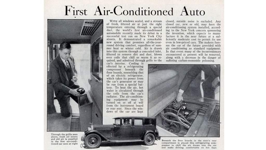 ilk klima sistemi otomobil packard 1939