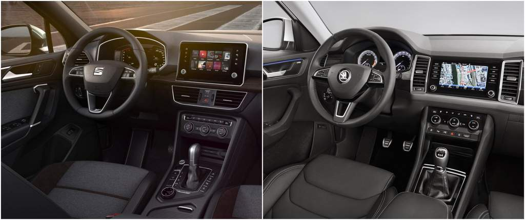 seat tarraco vs skoda kodiaq dashboard