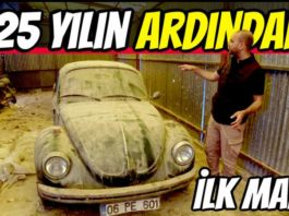 vw beetle 1303 tozlu garaj